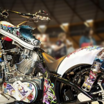 The Ed Hardy bike on show