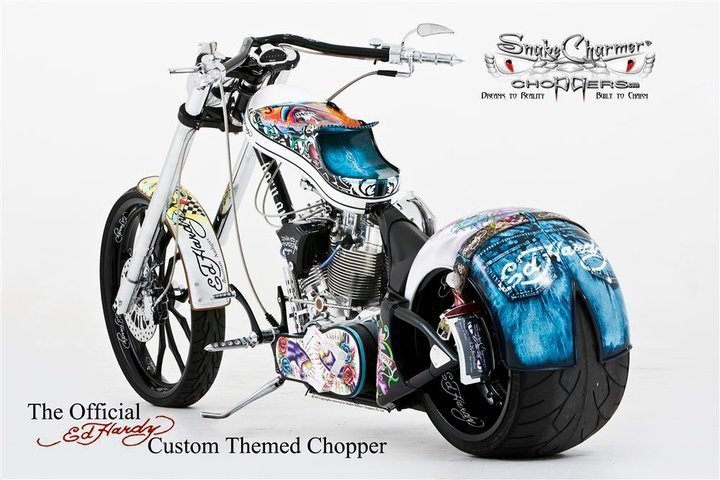 Snake Charmer Choppers - Ed Hardy themed chopper